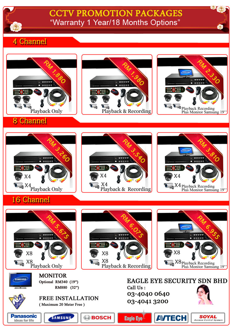 CCTV Promotion Packages
